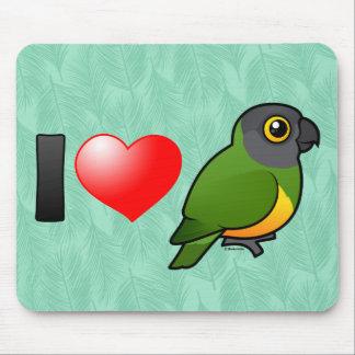 I Love Senegal Parrots Mouse Pad