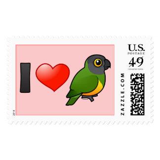I Love Senegal Parrots Postage