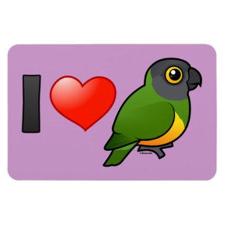 I Love Senegal Parrots Rectangular Photo Magnet