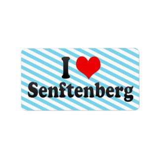 I Love Senftenberg, Germany Custom Address Labels