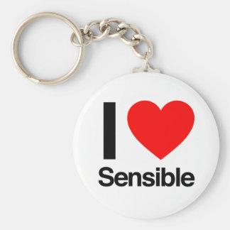 i love sensible keychain