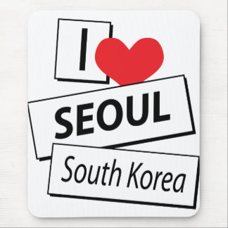 I Love Seoul South Korea Mouse Pad
