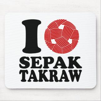 I Love Sepak Takraw Mouse Pad