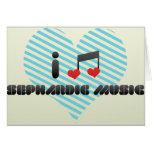 I Love Sephardic Music Greeting Card