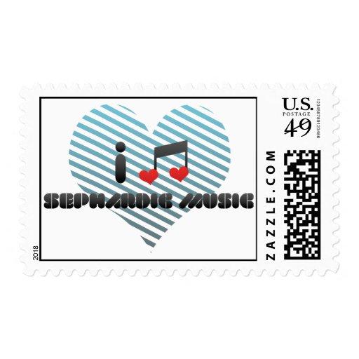 I Love Sephardic Music Postage Stamps