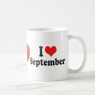 I Love September Classic White Coffee Mug
