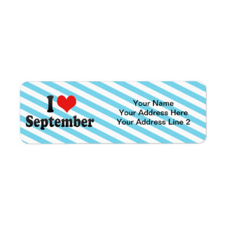I Love September Return Address Label