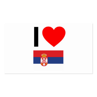i love serbia Double-Sided standard business cards (Pack of 100)