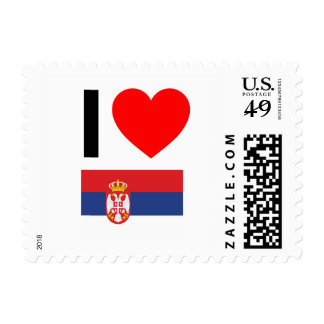 i love serbia stamps