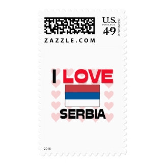 I Love Serbia Postage Stamps