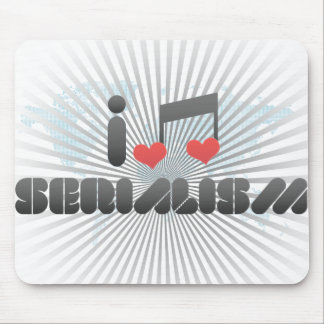 I Love Serialism Mouse Pad