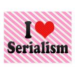 I Love Serialism Postcard