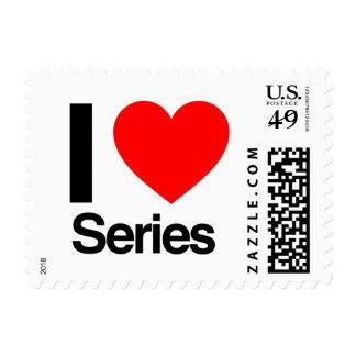 i love series postage stamp