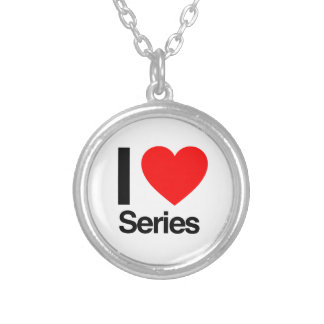 i love series round pendant necklace