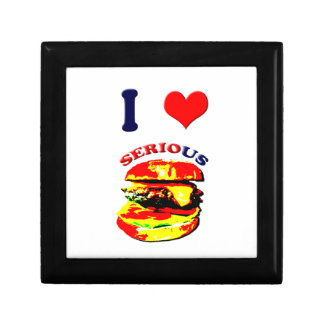 I Love Serious Burgers Jewelry Box