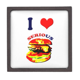 I Love Serious Burgers Keepsake Box