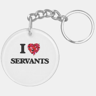 I love Servants Double-Sided Round Acrylic Keychain