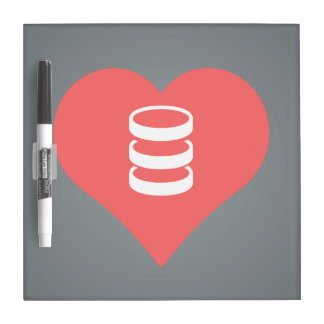 I Love servers Design Dry Erase Board