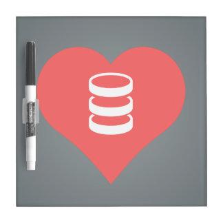 I Love servers Design Dry Erase Whiteboard