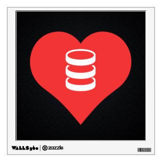 I Love servers Design Wall Graphics