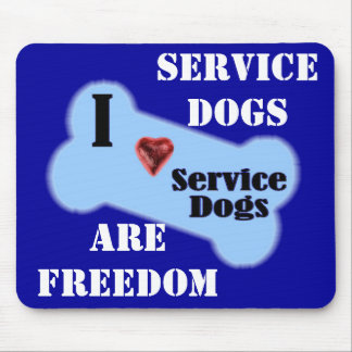 I Love Service Dogs Mouse Pad