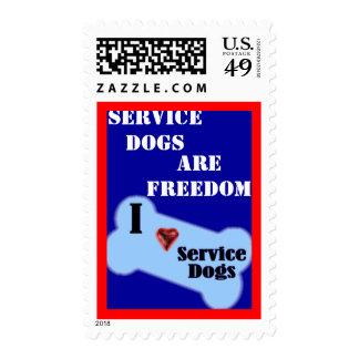 I Love Service Dogs Stamp
