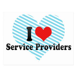 I Love Service Providers Postcard