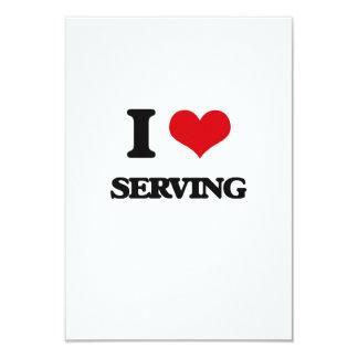 "I Love Serving 3.5"" X 5"" Invitation Card"