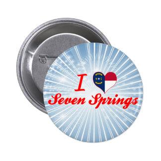 I Love Seven Springs, North Carolina Button