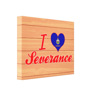 I Love Severance Kansas Gallery Wrapped Canvas