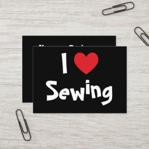 Sewing business cards templates zazzle i love sewing business card colourmoves