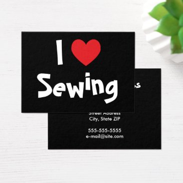 Professional Business I Love Sewing Business Card