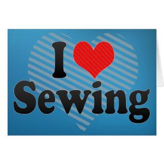 I Love Sewing Card