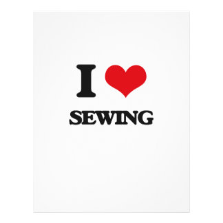 """I Love Sewing 8.5"""" X 11"""" Flyer"""