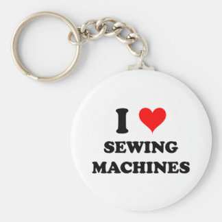 I Love Sewing Machines Keychains