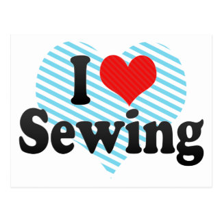 I Love Sewing Postcard