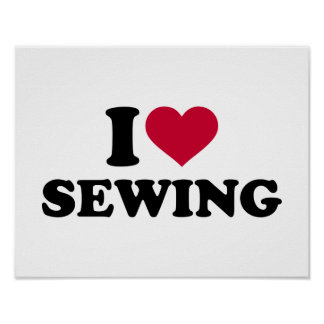 I love sewing poster