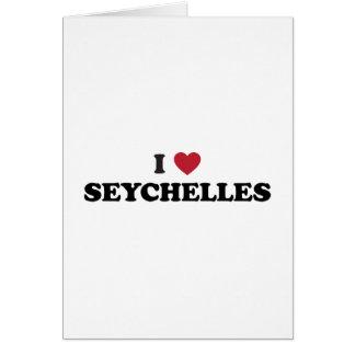 I Love Seychelles Card