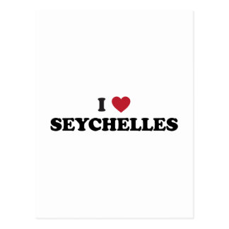 I Love Seychelles Postcard