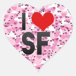 I Love SF Heart Sticker