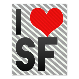 "I Love SF 4.25"" X 5.5"" Invitation Card"