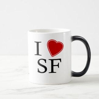 I Love SF 11 Oz Magic Heat Color-Changing Coffee Mug