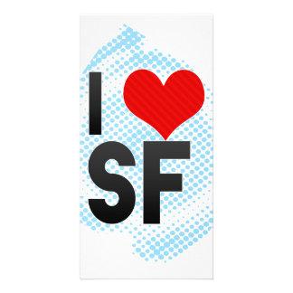 I Love SF Photo Card Template