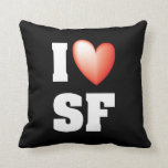 I Love SF Pillow