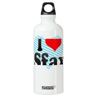 I Love Sfax, Tunisia Aluminum Water Bottle