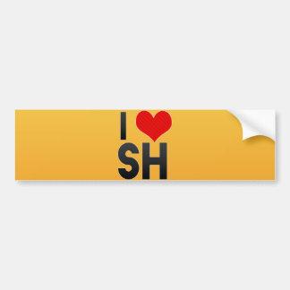 I Love SH Bumper Sticker