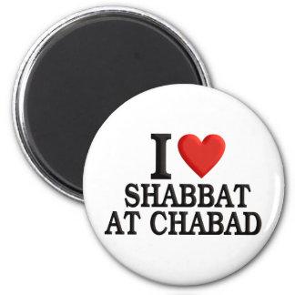 I love Shabbat at Chabad 2 Inch Round Magnet
