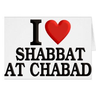 I love Shabbat at Chabad Card