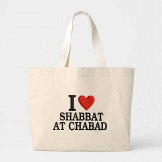 I love Shabbat at Chabad Large Tote Bag
