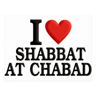 I love Shabbat at Chabad Postcard